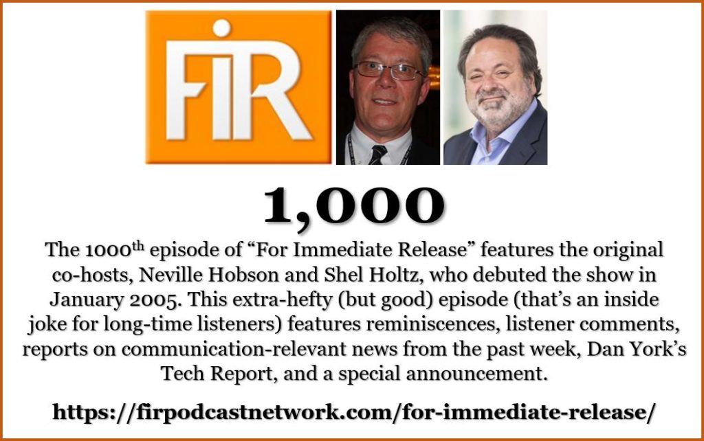 FIR 176: Our 1,000th episode is hefty but good