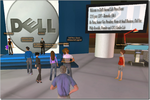 Dell press briefing in Second Life