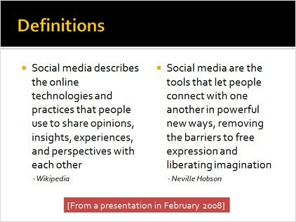 How would you define social media for Soil media definition