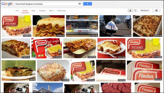 "Google images: ""beef lasagne horsemeat"""