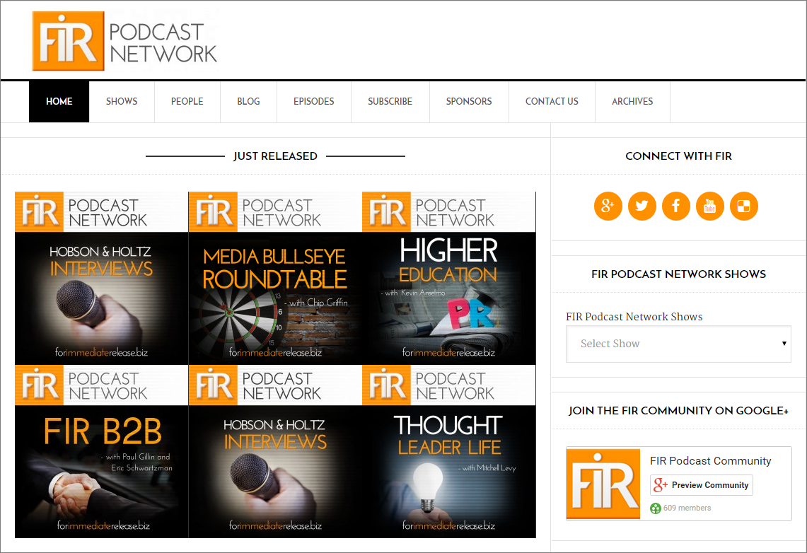 A new platform for a new network: the FIR Podcast Network is live