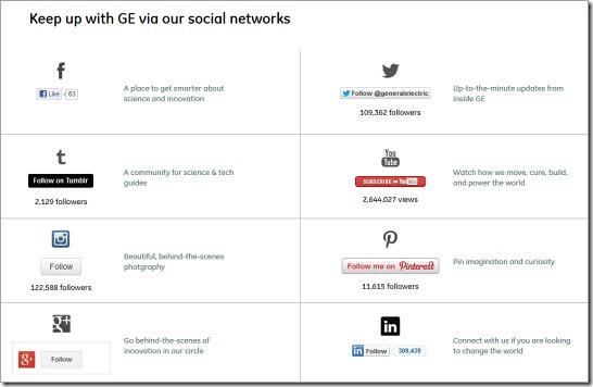 GE social web