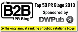Top 50 UK PR Blogs 2013