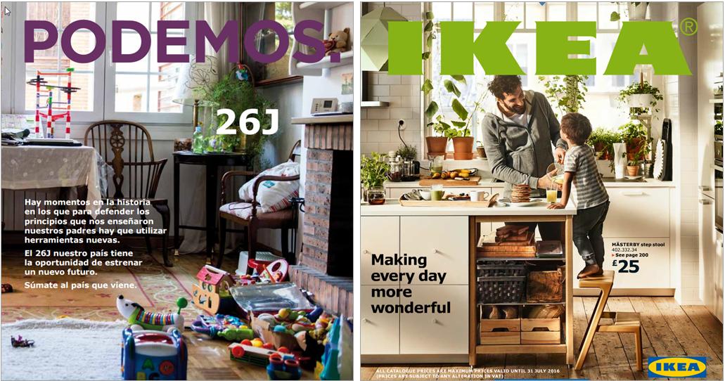 Podemos & Ikea covers