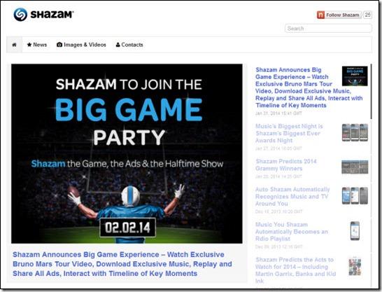 Shazam newsroom