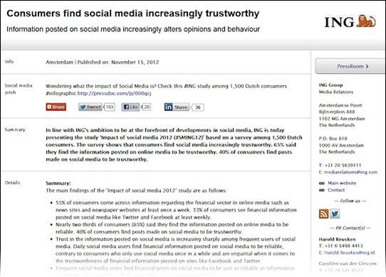 good example of a social media press release from ing  u2022 nevillehobson com
