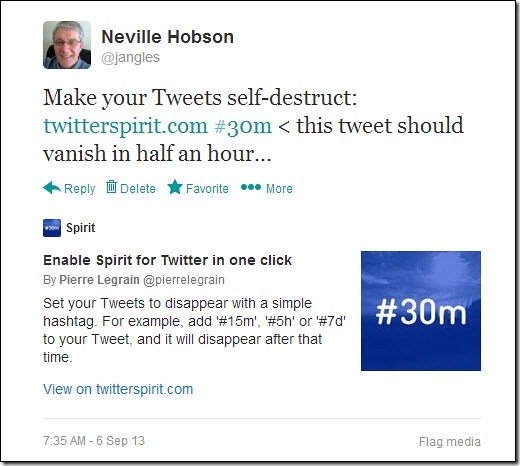 Make your tweets self-destruct...