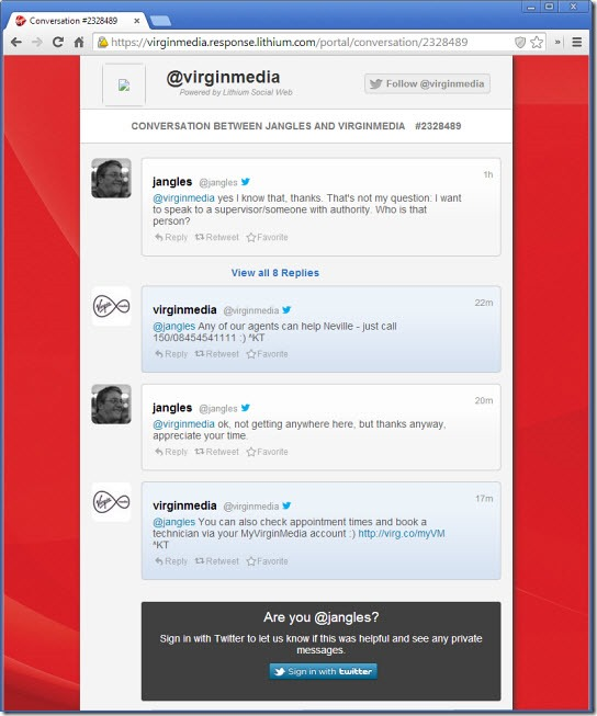 Virgin Media - Lithium Social Web
