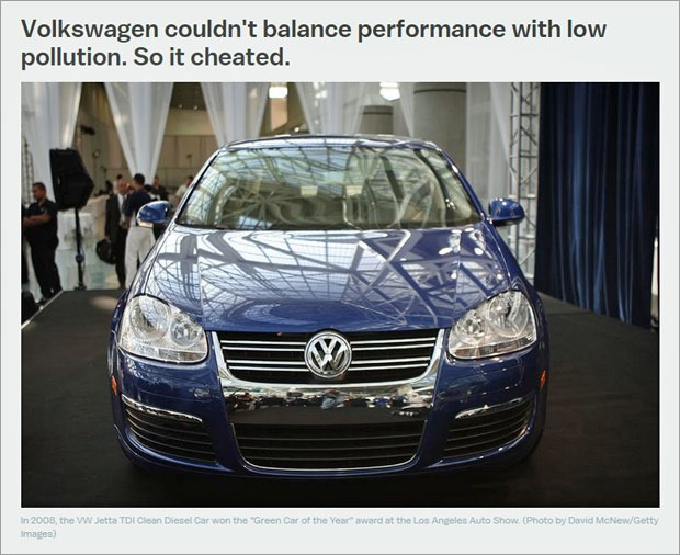 VW cheated