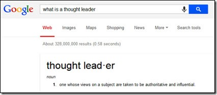 What is a thought leader...